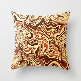 Brown Marble Throw Pillow