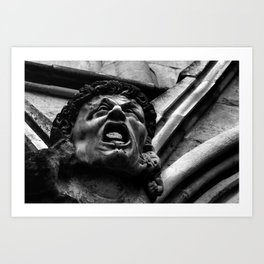 Salisbury Cathedral - Agony Of The Biting Imps Art Print