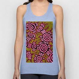 U Belong - Authentic Aboriginal Art Unisex Tank Top