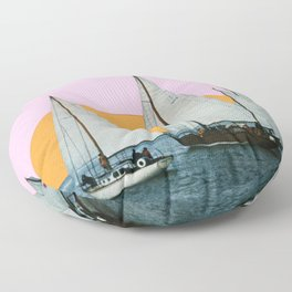 Into the Sunset Floor Pillow