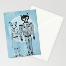 Fox and Wolf Stationery Cards