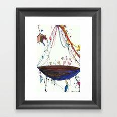 Diamond Ship Framed Art Print