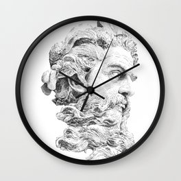 Neptune God of the Sea Wall Clock