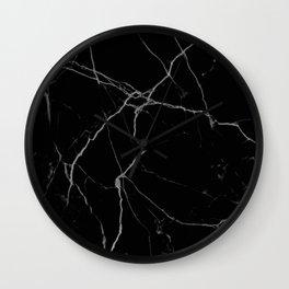 black marble I Wall Clock