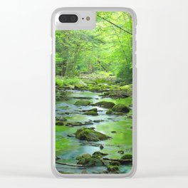 Rocky Forest Creek Clear iPhone Case