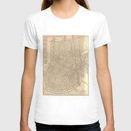 Vintage Map of New Orleans LA (1908) T-shirt
