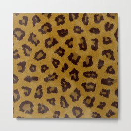 Cheetah fur pattern Metal Print
