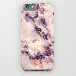 Pink marble texture effect iPhone Case