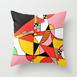 Print #4 Throw Pillow