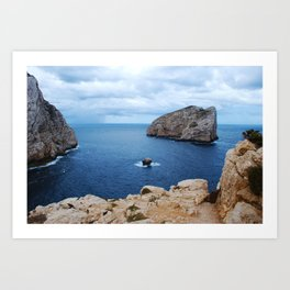 Sardinia Island Italy - Mesozoic Limestone Boulders Art Print