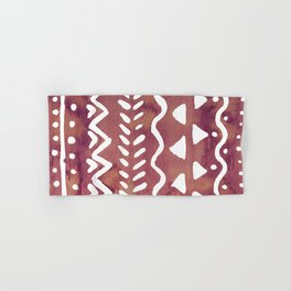 Loose boho chic pattern - purple brown Hand & Bath Towel