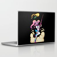 magical girl Laptop & iPad Skins featuring Riot Magical Girl by Magnta