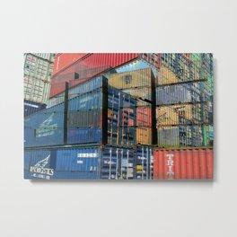 Hamburg Harbour II Metal Print