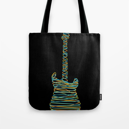 Guitar On Tote Bag