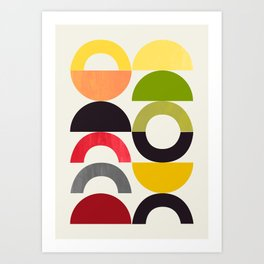 Playground II Lemon Lime Grapefruit Orange Art Print