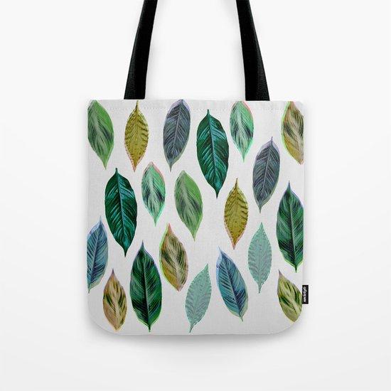 Green Leaves 2 Tote Bag