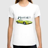 lamborghini T-shirts featuring Lamborghini Miura, car by Luca Olivotto