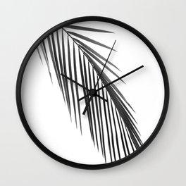 Palm leaf B&W Wall Clock