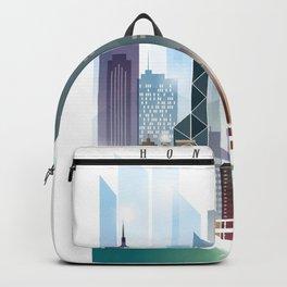 The city skyline of Hong Kong Backpack