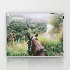 Horseback riding in New Zeeland Laptop & iPad Skin