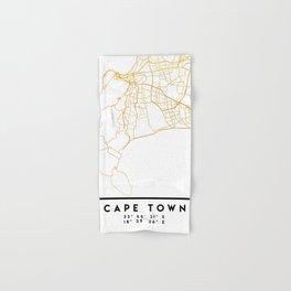 CAPE TOWN SOUTH AFRICA CITY STREET MAP ART Hand & Bath Towel