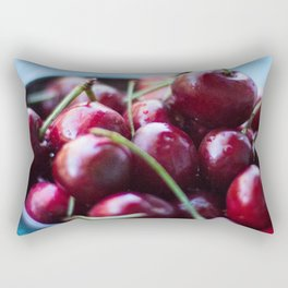 Life IS a Big Bowl of Luscious Red Cherries Rectangular Pillow