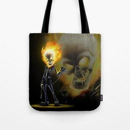 Flaming Skullface v2 Tote Bag