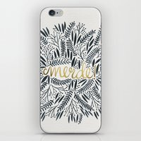 french iPhone & iPod Skins featuring Pardon My French – Black & Gold by Cat Coquillette
