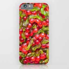 Yummy Gummy Cherries Candy Pattern iPhone Case