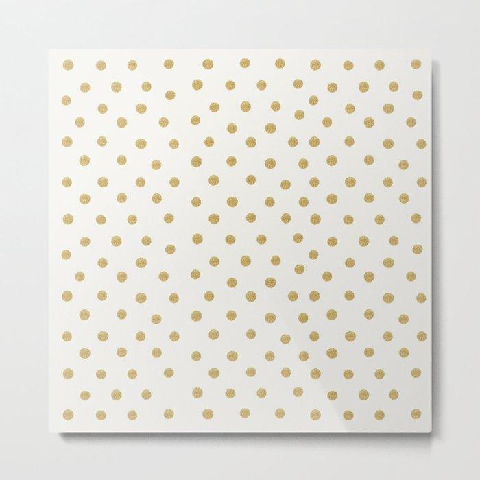 Gold Spots Metal Print
