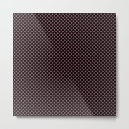 Black and Crushed Berry Polka Dots Metal Print