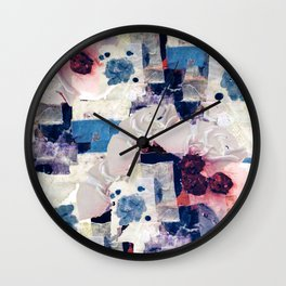 patchy collage Wall Clock