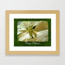 Pale Yellow Poinsettia 1 Happy Holidays P1F1 Framed Art Print