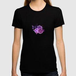 Purple floral pattern. Watercolor lilac flowers illustration. Violet botanical art. Gift for her T-shirt