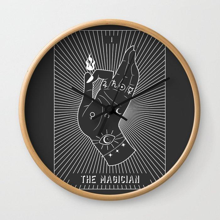 Minimal Tarot Deck The Magician Wall Clock