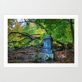 Autumn in the Cemetery Art Print