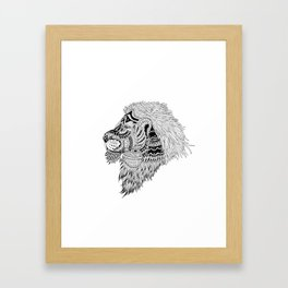 HAKUNA LION Framed Art Print