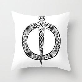 Celtic Pin Throw Pillow