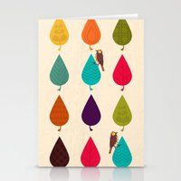 leaves Stationery Cards featuring Leaves by Kakel