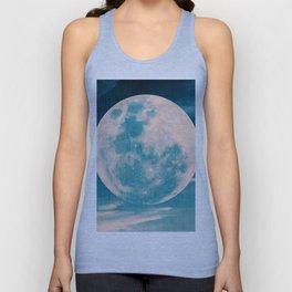 Full moon - Blue Unisex Tank Top