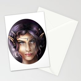 Elven Face Stationery Cards