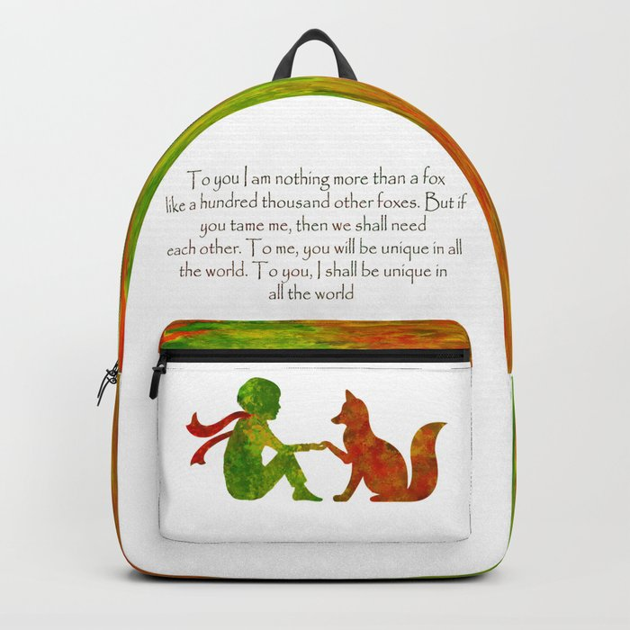 Little Prince Quote Rucksack