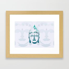Buddha Head turquoise I Framed Art Print