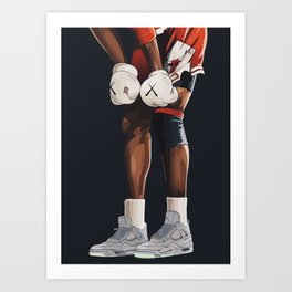 KAWS boxing gloves and shoes Art Print