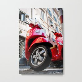 Tired of Riding Metal Print