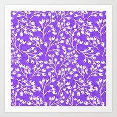 Purple Autumn berries Art Print