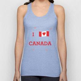 I heart Canada Unisex Tank Top