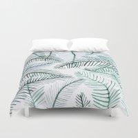 palm Duvet Covers featuring PALM by Alex McBain Paints