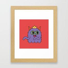 Monsticky Purple monster Framed Art Print