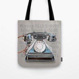 Vintage Telephone Tote Bag